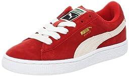 PUMA Suede Junior Sneaker (Little Kid/Big Kid) , High Risk Red/White, 13.5 M US Little Kid