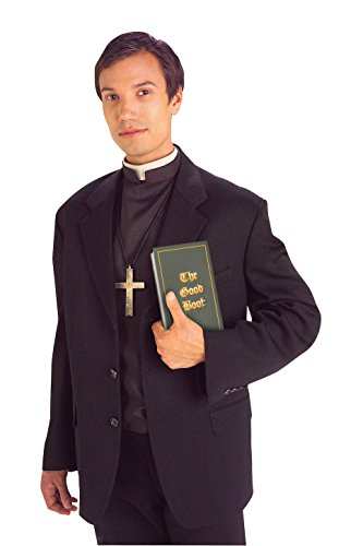 Forum Novelties Men's Priest Costume Shirt Front with Collar