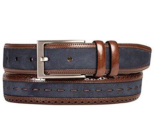 Mezlan Mens Ao10237 Belt , Dark Brown/Navy, 38 Medium (AO10237)