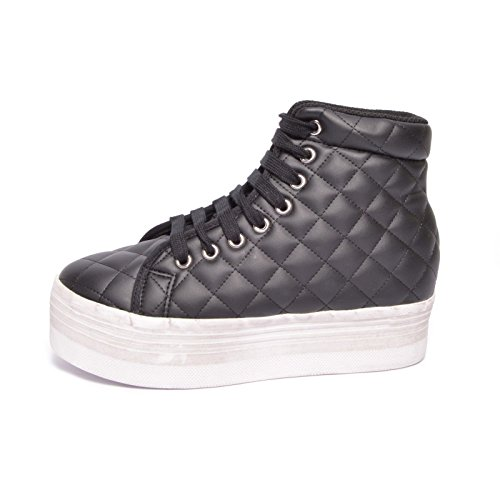 JC PLAY BY JEFFREY CAMPBELL HOMG QUILTED LEA WASH - BLACK (36)