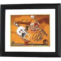 Charles Oakley Autographed Hand Signed New York Knicks 8X10 Photo Custom Framed w ...