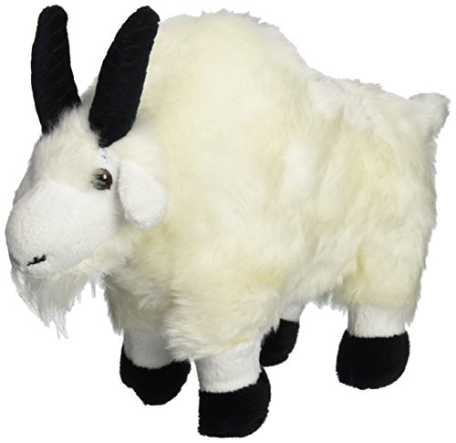 "Wishpets 7"" Standing Mountain Goat White Plush Toy - 1"