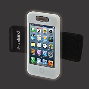 TuneBand for iPhone 4 / iPhone 4S, Premium Sports Armband with Two Straps and Two Screen Protectors (Glow)