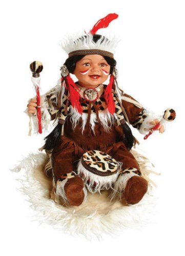 Buy MINDA 22in Native American w/Drum & Blanket Doll