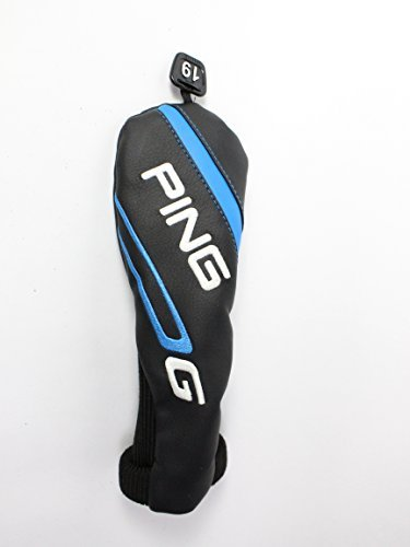 Ping 2016 G Series 3 Hybrid Headcover Head Cover 19° Tag Black Blue Golf (Ping Golf Head Covers compare prices)