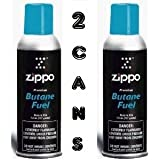2 Large Zippo Blu Butane Refills for Lighters (2 Cans of 5.82oz each)