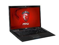 MSI 17.3-Inch Gaming Laptop with Core i7-3630QM, GTX660M/2GB GDDR5, 8GB RAM, 750GB HDD, SuperMulti, GE70 0ND-212US (Black)