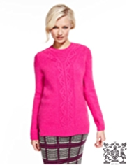 Best of British Pure Lambswool Cable Knit Jumper