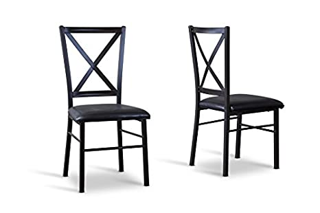 Rexroth Metal Contemporary Dining chair with Chanasya Polish Cloth Bundle (Set of Six)
