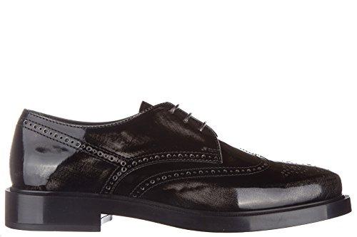 Tod's scarpe stringate classiche donna in pelle nuove gomma bucatura derby nero EU 37 XXW0ZP0R070SHAB609