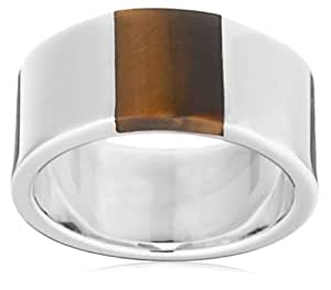 Fred Bennett R2416Y 64 Silver and Tiger Eye Ring  Size - V