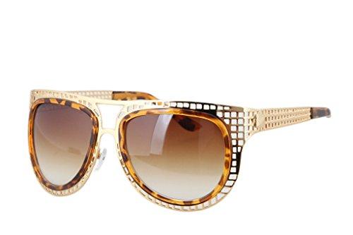 Dantiya Damen Metall Sonnenbrille inner Gestell aushöhle Gestell Frosch Retro UV Schütz-C1