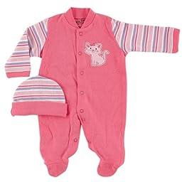 Luvable Friends Preemie Sleep N Play & Cap, Pink