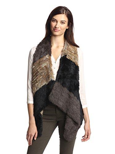 Jocelyn Women's Draped Rabbit Fur Vest