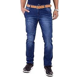 URBAN FAITH Blue Jeans For Men's