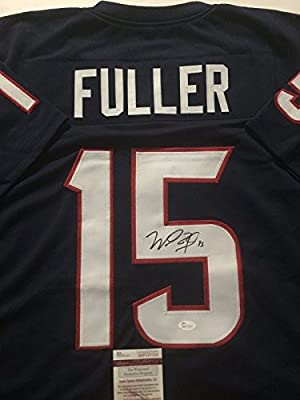 Autographed/Signed Will Fuller Houston Texans Blue Football Jersey JSA COA