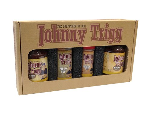 Johnny Trigg BBQ Pitmasters Champion Sauces and Rubs Gift Set