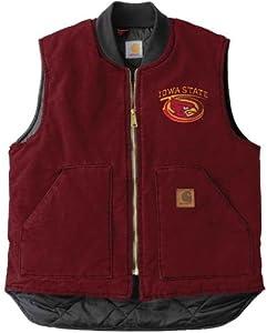 NCAA Iowa State Cyclones Men's Sandstone Vest, Dark Red, Small