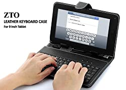 ZTO 9 Inch Keyboard Stand Case For Android Tablet