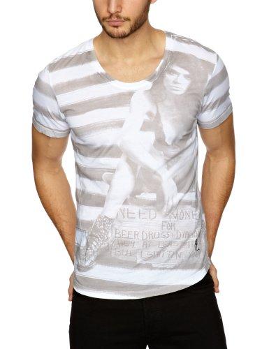 religion B213 NMF11 Printed Men's T-Shirt White X-Large