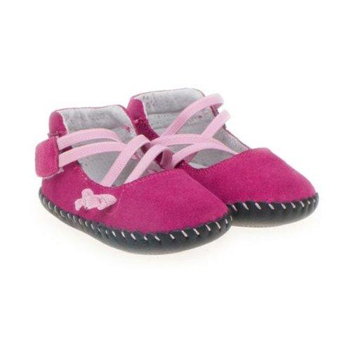 Little Blue Lamb - Chaussures premiers pas cuir souple fille | Ballet rose Taille: 12-18 mois