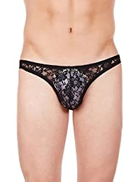 La Intimo - Men Lace Bikini - Black - Large(32-34Inch)