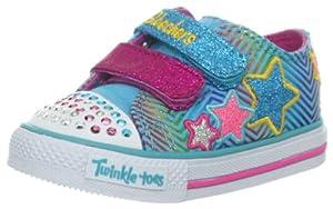 Skechers Kids Twinkle Toes Shuffles Triple Up Sneaker (Toddler) from Skechers Kids