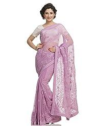 Ada Indian Pakistani Lucknow Chikan Women Ethnic Dress Pink Saree A31902