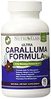 Caralluma Fimbriata Fat Burning Formula - Plus Garcenia Cambogia - Raspberry Ketones - Green Coffee Tea Extract - Moringa - African Mango - Forskolin - Kidney Bean - Carb Blocker Appetite Suppressant