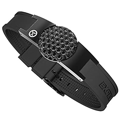 ProExl Golf Magnetic Bracelet in Black With Detachable Ball Marker and Gift Box