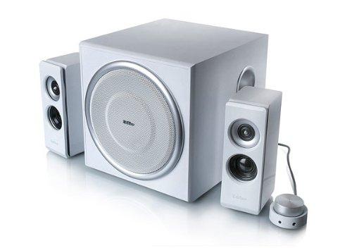Edifier S330D Rev.2, 2.1-Soundsystem mit 2x 18W Satelliten und 1x 40W Subwoofer, inklusive Fernbedienung, weiß