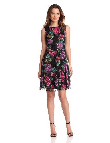 Tiana Womens Waterlily Printed Dress