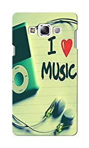 CimaCase I Love Music Designer 3D Printed Case Cover For Samsung Galaxy E7