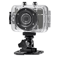 Gear-Pro High-Definition Sport Action Camera, 1080p 720p Wide-Angle Camcorder With 2.0 Touch Screen - SD Card Slot, USB Plug And Mic - All Mounting Gear Included - For Biking, Riding, Racing, Skiing And Water Sports, Etc. - WHITE by WCI