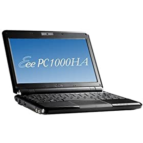 ASUS Eee PC 1000HA 10-Inch Netbook (1.6 GHz Intel Atom N270 Processor, 1 GB RAM, 160 GB Hard Drive, 10 GB Eee Storage, Chiclet Keyboard, XP Home, 7 Hour of Battery Life) Fine Ebony
