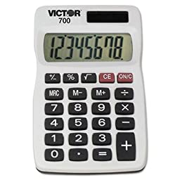 700 Pocket Calculator, 8-Digit LCD, Sold as 2 Each