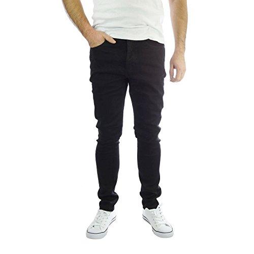jeans-da-uomo-brave-soul-aegon-skinny-elasticizzato-nero-casual-denim-pantaloni-nero-32w-x-32l