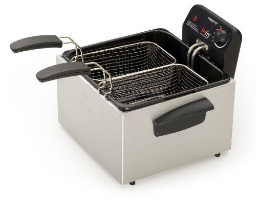 Best Review Of Presto 05466 Stainless Steel  Dual Basket Pro Fry Immersion Element Deep Fryer
