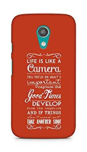 AMEZ life is like a camera Back Cover For Motorola Moto G2