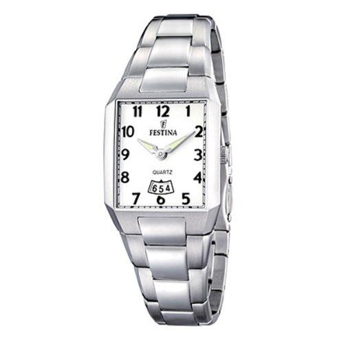 Festina F16501/1 - Reloj analógico de cuarzo para mujer con correa de acero inoxidable, color plateado
