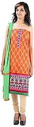 JYOTI Women's Cotton Unstiched salwar Suit (jbam-7, Orange)