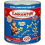 41czSI3Z8kL. SL160  Tinkertoy Glow in the Dark Construction Set   225 Pieces