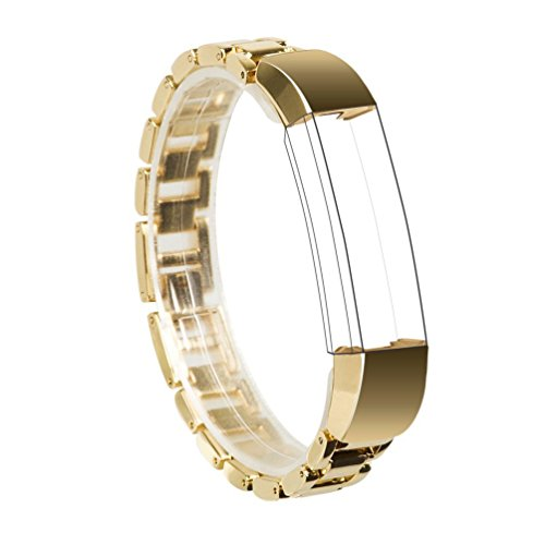 For Fitbit Alta Band, Wearlizer Smart Watch Metal Wristband Replacement Strap Bracelet for Fitbit Alta - Gold (Advance Auto Gift Card compare prices)