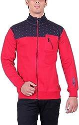 RGT Men's Fleece Regular Fit Sweatshirts (RGT7025RED-XXL)