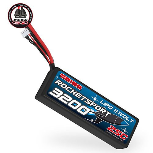 Rocket Sport LiPo 3200 25C 7.4V, UNI Plug