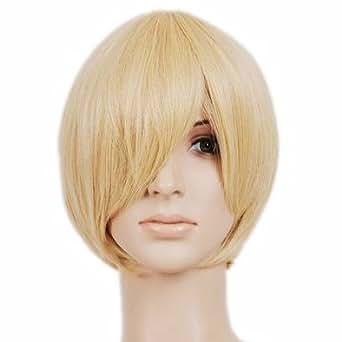 Blonde Short Length Anime Cosplay Costume Wig
