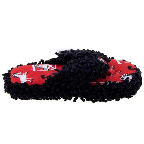 Lazy One I'M Unstable In The Morning Horse Slippers (Red/Black, S/M) front-1029207