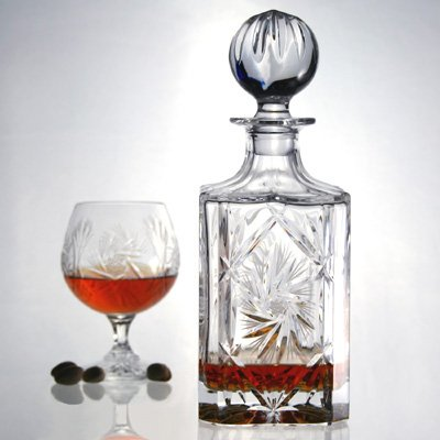 Katherine Hand Cut Lead Crystal Square Decanter