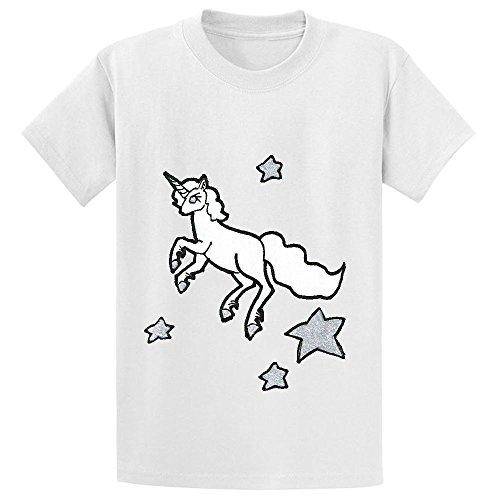 Unicorn Unicorn Fly Star Kid's Crew Neck Tee White (I Ate A Shark Shirt compare prices)