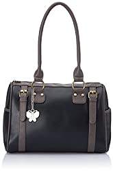 Butterflies Women's Handbag (Black) (BNS 0259 BK)